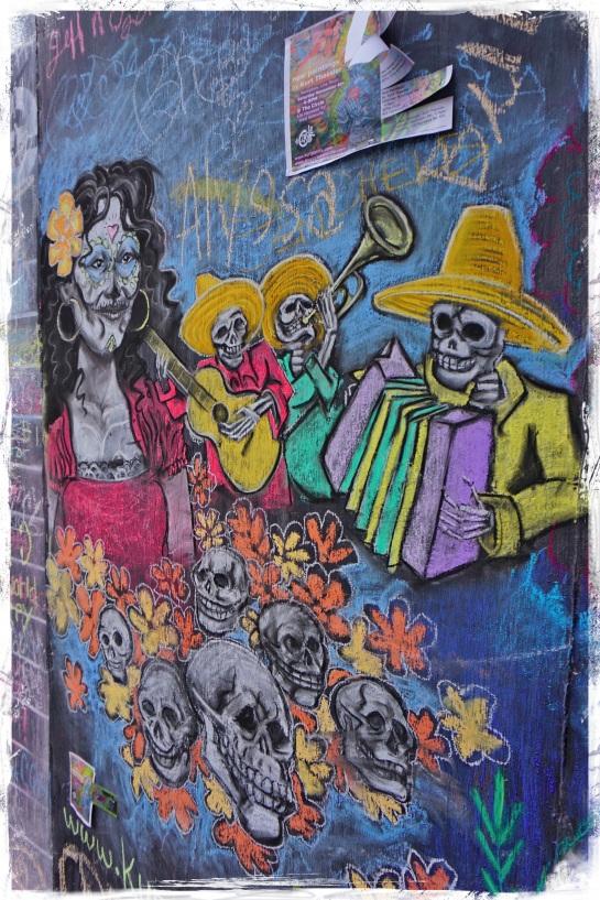 Chalk wall - Asheville