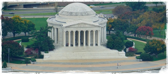 Jefferson Memorial from Washington Monument