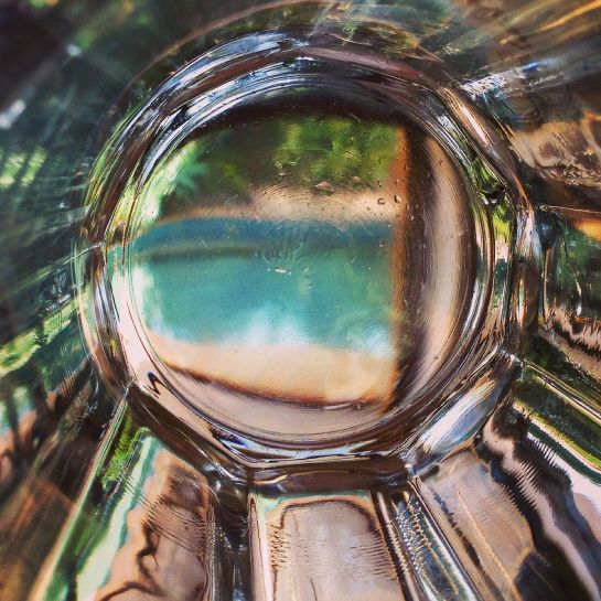 through the water glass - iPhone 5