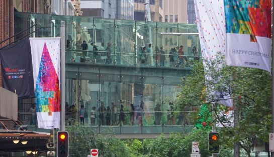 Boxing Day shoppers - Sydney CBD