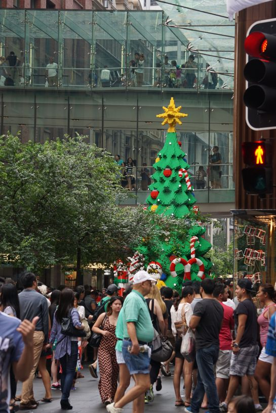 Lego Christmas tree - Boxing Day Sydney CBD