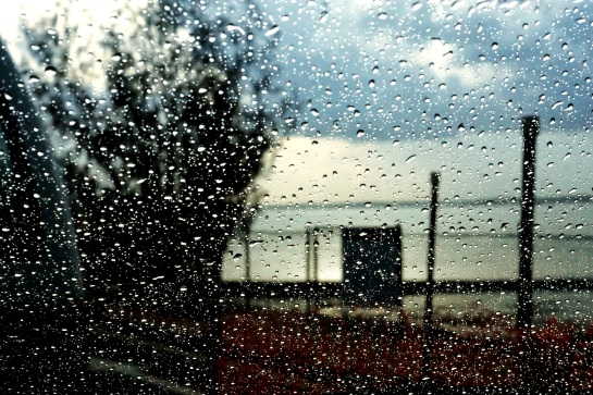 waiting for the ferry - rain shower - 21 Jan 15