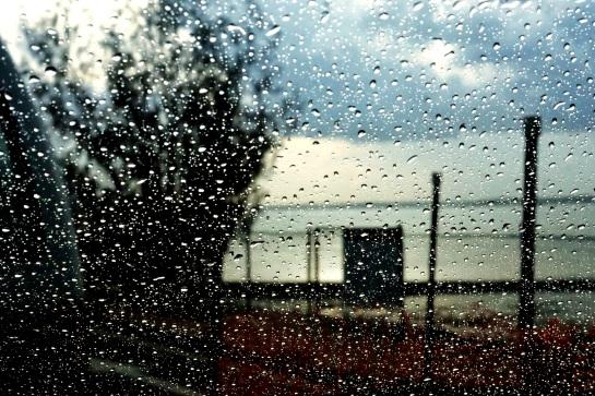 waiting for the ferry - rain shower - 21 Jan 15