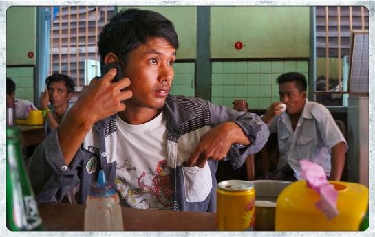 Bago - negotiating a taxi ride to Yangon