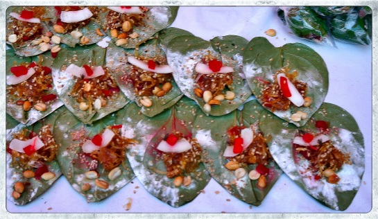 Betel nut portions ready to go - Yangon