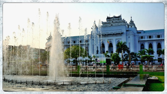 City Hall from Mahabandoola Gardens - Yangon