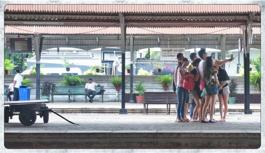 Colombo Railway Station - selfie