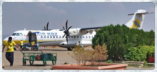 Flight Nyuang U to He Ho (Inle Lake hub)