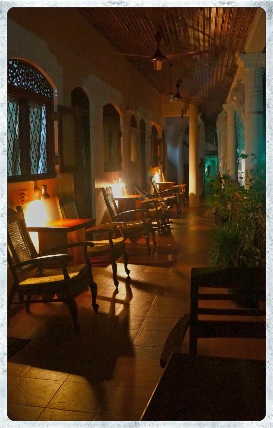Galle Fort - guest house verandah