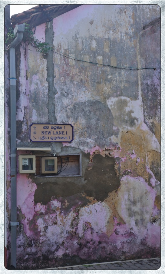 Galle Fort - street sign