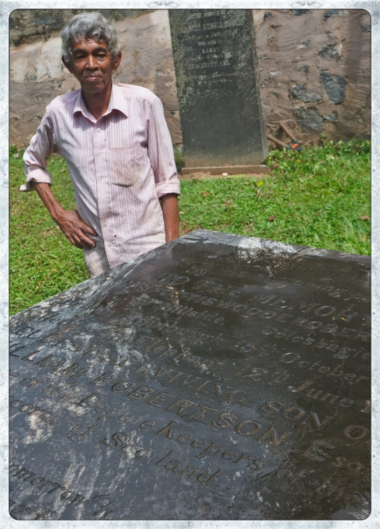 Kandy Garrison Cemetery caretaker - Charles Carmichael