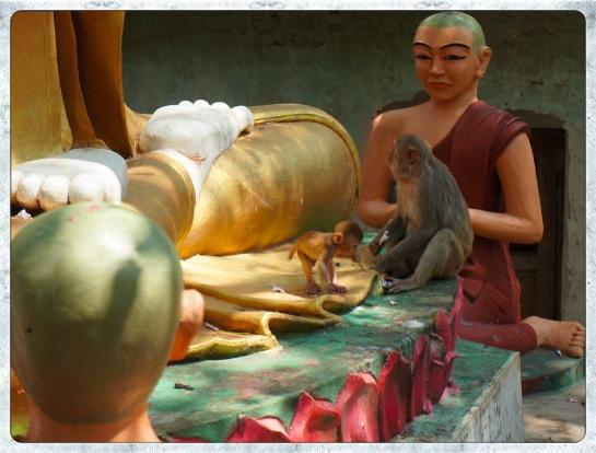 Mt Popa - Mother, child, Buddha