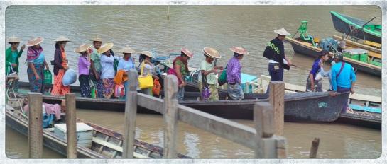 Nyaung Shwe - boat stop