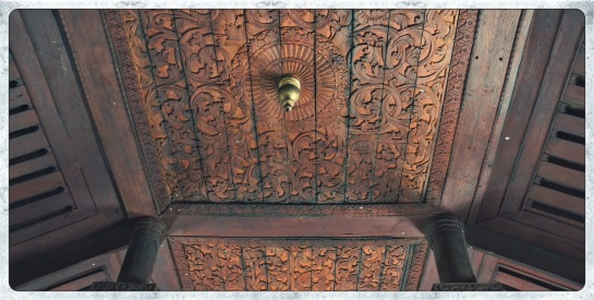 Shwe In Bin Kyaung - ceiling detail
