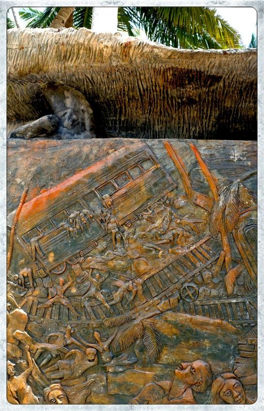 Tsunami memorial - detail