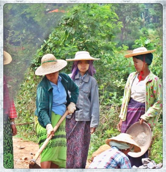 Women - road works