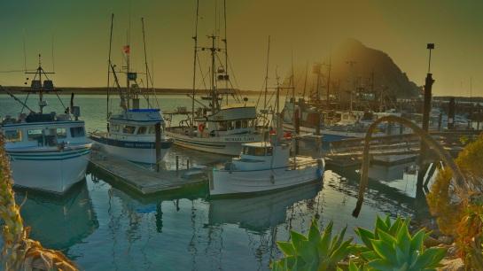Board walk sunset - Morro Bay CA