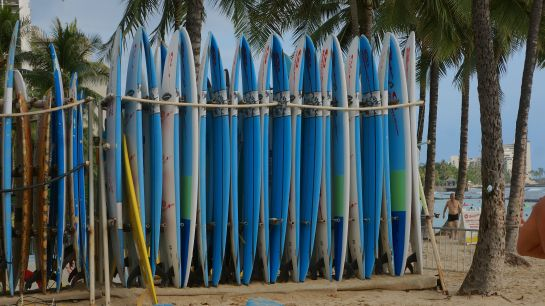 boards for hire - Waikiki Beach