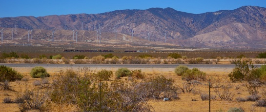 Freight train near Mojave CA