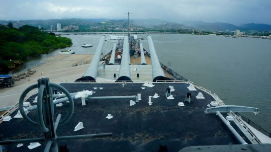 View from the bridge - USS Missouri