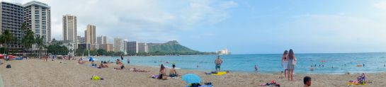 Waikiki Beach panorama - 11 Sep 2015