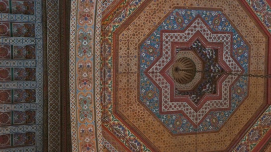 Bahia Palace - ceiling detail
