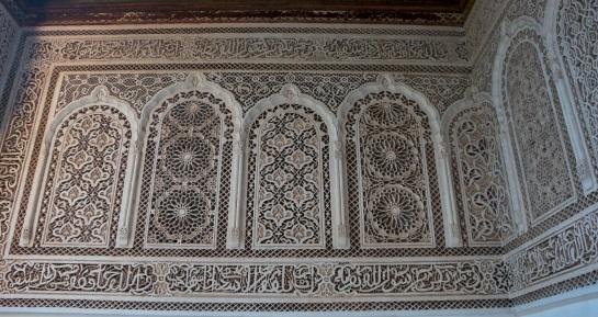 Bahia Palace plaster wall details