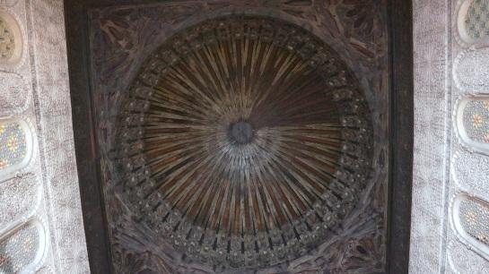 Cedar ceiling in a Medersa - Fes