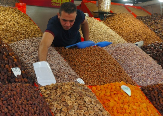 Dried fruit seller - Djamaa el Fna Square