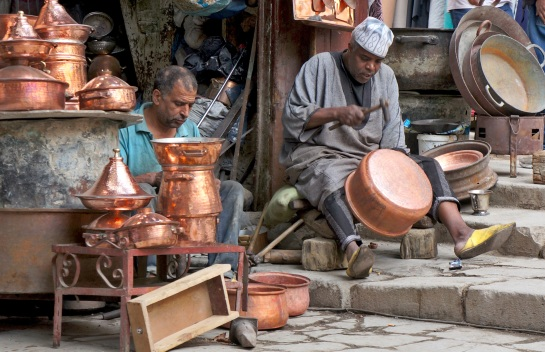 Fes - copper pot artisans