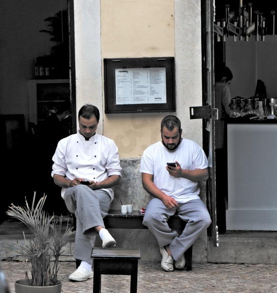 Lisbon - chefs on a break