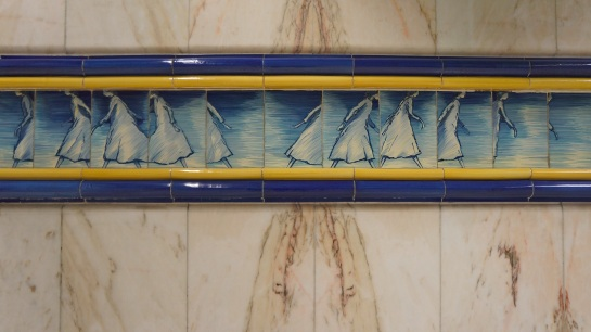 Lisbon - railway tile art 1