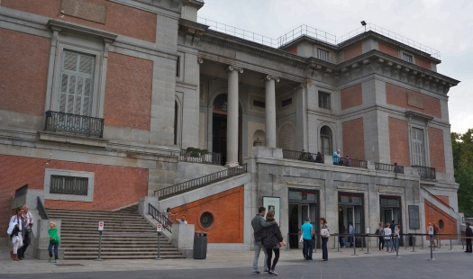 A picture of The Prado. No photographs allowed. Absolutely no photographs.  Goya, Velazquez, El Greco and Breugel. Etched in my brain, and on the postcards to assist the memory.