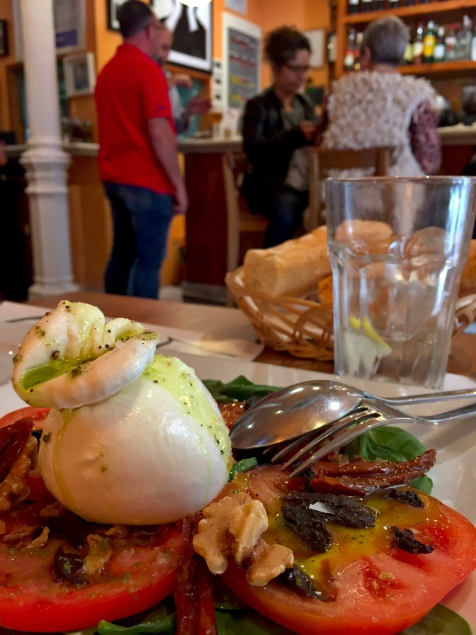 Lunch at La Tercera taberna in Spain.