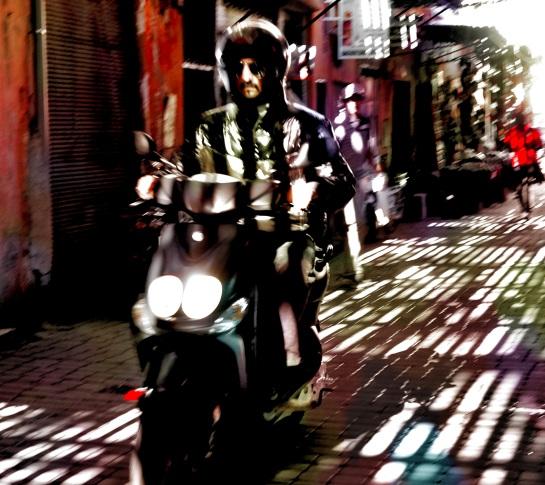 Medina motorcyclist