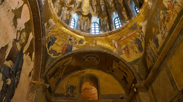 Istanbul: The Chora Church (Kariye Museum). Details show Byzantium Christianity history. Posted on The Black lion Journal.