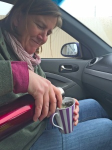 A thermos for tea on the road - 5 June 2016