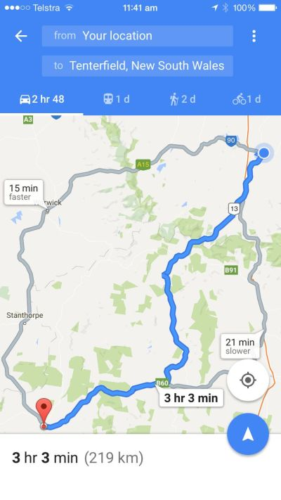 Beaudesert to Tenterfield