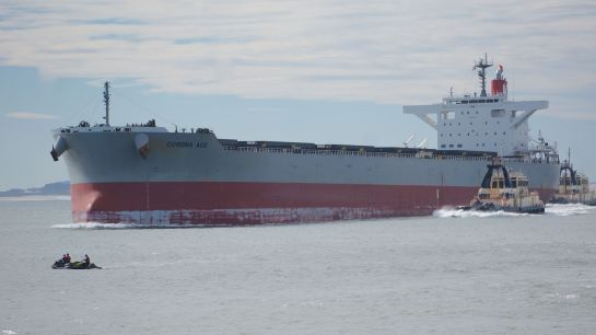 Corona Ace - ship into Newcastle Harbour - 6 June 2016