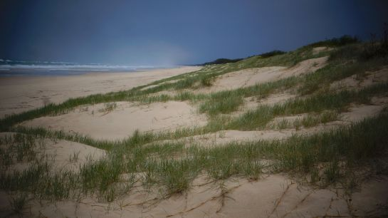 Main Beach - rainy day - 3 June 2016 - Stradbroke island