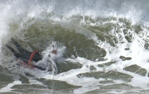 Nobbys Head - surfer - 6 June 2016