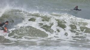 Nobbys Head - surfers - 6 June 2016