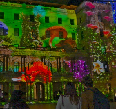 Vivid - Customs House - Sydney's Hidden Stories light show 2