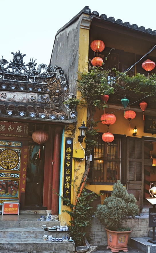 A picture of a building in Hoi An, Vietnam -- Lynn B. Walsh's Travels, Foods, and Stories | The Black Lion Journal | The Black Lion