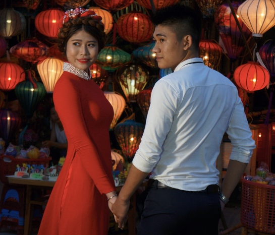 A couple having a wedding in Hoi An, Vietnam -- Lynn B. Walsh's Travels, Foods, and Stories | The Black Lion Journal | The Black Lion