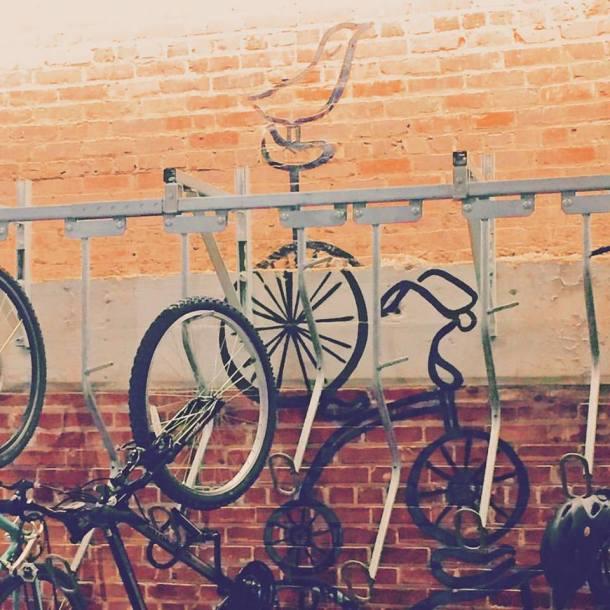 Ponce City Market Bike Rack • Image by Lynn Buckler Walsh | The Black Lion Journal | The Black Lion | Black Lion
