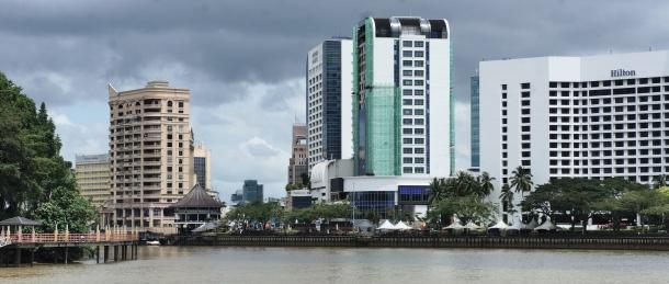 Old Kuching, Malaysia, Sarawak River Waterfront