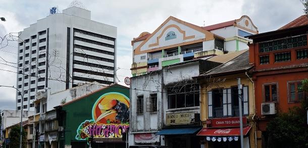 Old Kuching, Malaysia, Waterfront Shops