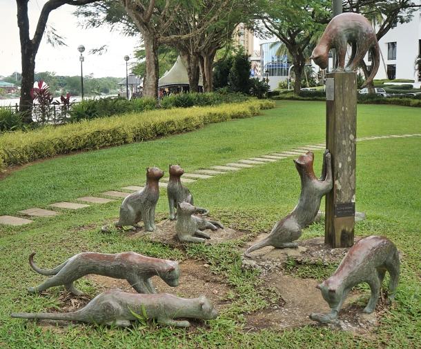 Old Kuching, Malaysia, Cat Statue