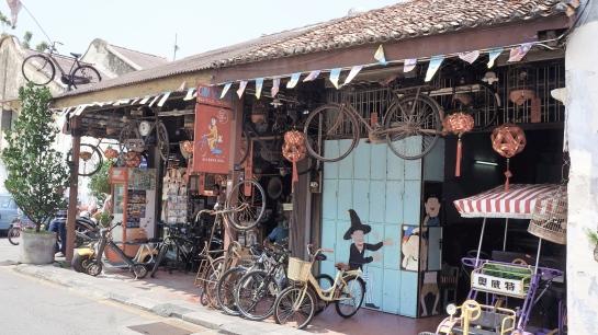 Penang - bicycle repair shop